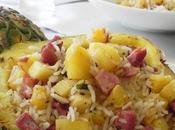 Salade créole tiède l'ananas jambon Noël