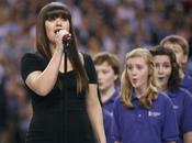 Nouvelle prestation kelly clarkson star-splangled banner (hymne national américain superbowl 2012)