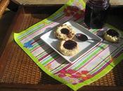 Biscuits «empreintes» cheddar pacanes gelée raisins porto