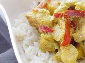 Curry lotte poivrons lait coco