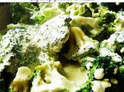 Gratin brocolis crème soja roquefort