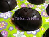 Œufs chocolat fourrés ganache gianduja.