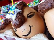 Oeufs Pâques comment utiliser coquilles d'oeufs moules gâteaux chocolat