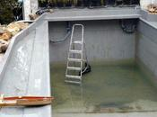 Organisation pose lattes séparation bassin nage/zone lagunage