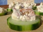 Canapé Concombre Crevettes Grises