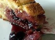 Gâteau basque confiture cerises
