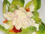 Salade composée avocat-crevettes...