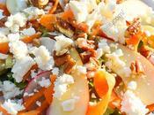 Salade estivale pommes, carottes, radis, noix pécan feta Summer Salad with Apple, Carrot, Radish, Pecan Feta