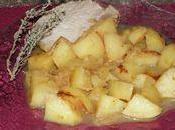 Rôti porc pommes
