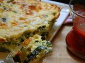 Flan courgettes sauce tomate