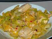 Poulet épicé chou chinois (recette légère)
