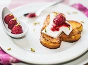 Brioche façon pain perdu Brocciu framboises rose
