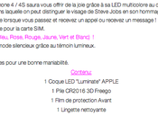 "Coque lumineuse iPhone 4/4S ""Apple"" gagner"