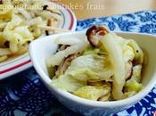 Chou chinois (Pe-tsaï) champignons Shiitakés frais 香菇白菜 xiāng báicài