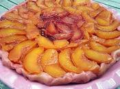 Tatin nectarine prunes rouges