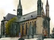 L'église saint #Thomas, avenue #Laon. jour marché avant guerre.
