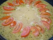 Soupe Indienne amandes, tomates escalope dinde