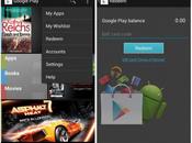 Google Play Store cartes cadeaux, wishlist smart updates