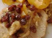 Roti dinde abricots raisins secs