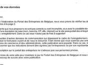 portail Entreprises Belgique retour