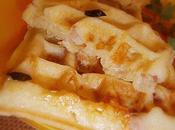 Gaufres salées saumon/chèvre lardons bâtonnets fromage