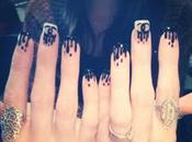ongles pluie noire Chanel Khloé Kardashian (hum hum)