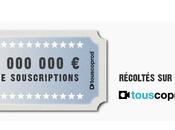 Touscoprod: Déjà million d'euros souscrits internautes