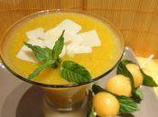 Gaspacho melon, menthe fraiche parmesan
