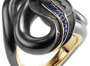 Luxe Black Serpent ring Fabergé