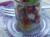 Verrine figues mozzarella ,basilic