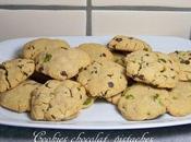 Cookies chocolat, pistache beurre cacahuète