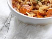 Soupe façon minestrone flageolet, carottes tagliatelle