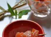 Bouchées Saumon mariné crème Basilic