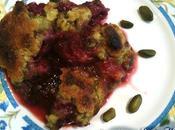 recette Pistache Crumble framboises pistaches