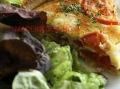 Quiche thon, tomates chèvre