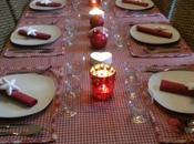 table Noël tradition nordique rouge blanc