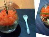 Premier rendez-vous culinaire hebdomadaire Verrine saumon concombre spécial Noël