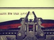 2013, année d'écriture!