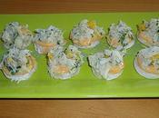 Canapes crabe mayonnaise paprika