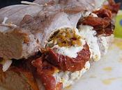 Filet mignon farci tomates séchées, oignon pesto