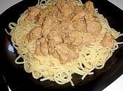 Spaghetti Escalopes Crème Fraiche