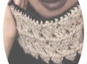crochet black beige