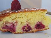 Gâteau moelleux citron framboises