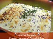 Gratin Courgettes, Boursin, Parmesan fleurs Bleuet