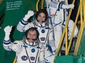 Hommes robots dans l'espace Russie affiche ambitions