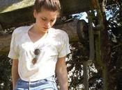 Look Vintage high waist short Cropped Tee-shirt