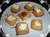 Petits carrés salés l'origan fromage