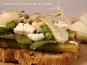 Recette Tartine légumes saison