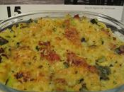 Plat Gratin Coquillettes Courgettes Bacon