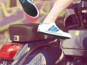 Vespa trouve chaussure pied avec Adidas